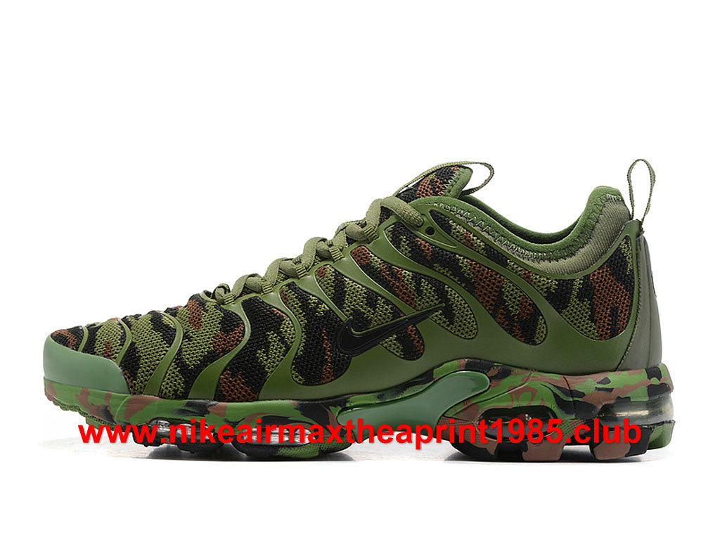 size 40 20642 f17f7 Nike Air Max Plus TN Ultra Camo Homme Chaussures Prix Pas Cher Olive Green
